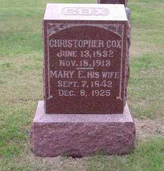 ROSECRANS COX, MARY E. - Gosper County, Nebraska | MARY E. ROSECRANS COX - Nebraska Gravestone Photos