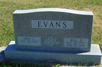 EVANS, BILL D. - Gosper County, Nebraska | BILL D. EVANS - Nebraska Gravestone Photos