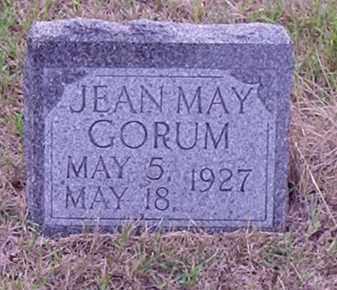 GORUM, JEAN MAY - Gosper County, Nebraska   JEAN MAY GORUM - Nebraska Gravestone Photos