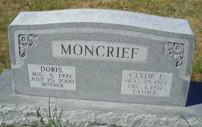 HOLDEN MONCRIEF, DORIS - Gosper County, Nebraska | DORIS HOLDEN MONCRIEF - Nebraska Gravestone Photos