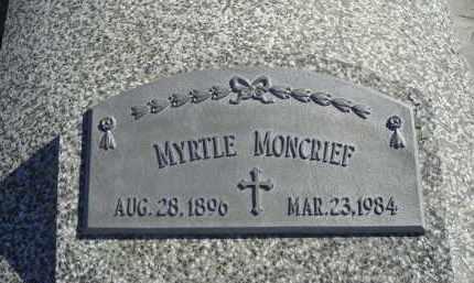 WHISLER MONCRIEF, MYRTLE - Gosper County, Nebraska | MYRTLE WHISLER MONCRIEF - Nebraska Gravestone Photos