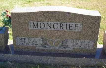 MONCRIEF, CHARLES W. - Gosper County, Nebraska   CHARLES W. MONCRIEF - Nebraska Gravestone Photos