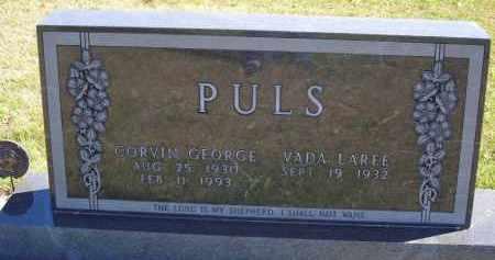 PULS, CORVIN GEORGE - Gosper County, Nebraska   CORVIN GEORGE PULS - Nebraska Gravestone Photos