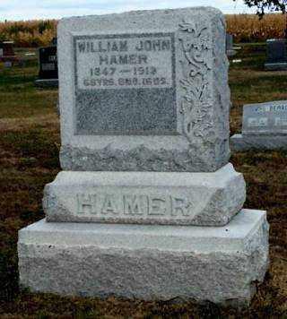 HAMER, WILLIAM JOHN - Gosper County, Nebraska | WILLIAM JOHN HAMER - Nebraska Gravestone Photos