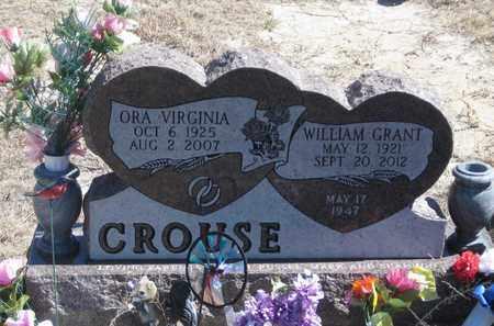 CROUSE, WILLIAM  GRANT - Grant County, Nebraska | WILLIAM  GRANT CROUSE - Nebraska Gravestone Photos
