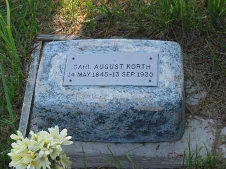 KORTH, CARL - Grant County, Nebraska | CARL KORTH - Nebraska Gravestone Photos