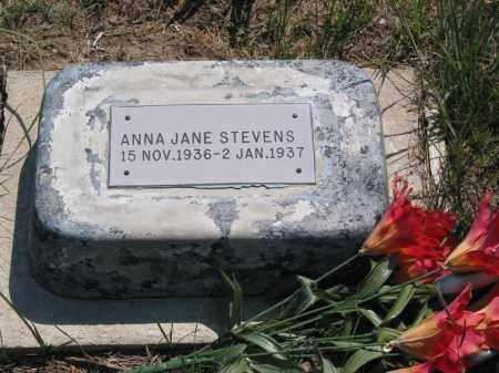 STEVENS, ANNA JANE - Grant County, Nebraska   ANNA JANE STEVENS - Nebraska Gravestone Photos