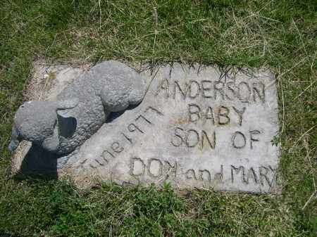 ANDERSON, BABY SON - Greeley County, Nebraska   BABY SON ANDERSON - Nebraska Gravestone Photos
