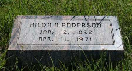 ANDERSON, HILDA A. - Greeley County, Nebraska | HILDA A. ANDERSON - Nebraska Gravestone Photos