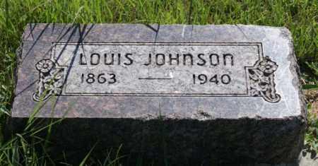 JOHNSON, LOUIS - Greeley County, Nebraska | LOUIS JOHNSON - Nebraska Gravestone Photos