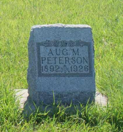 PETERSON, AUGUST M. - Greeley County, Nebraska | AUGUST M. PETERSON - Nebraska Gravestone Photos