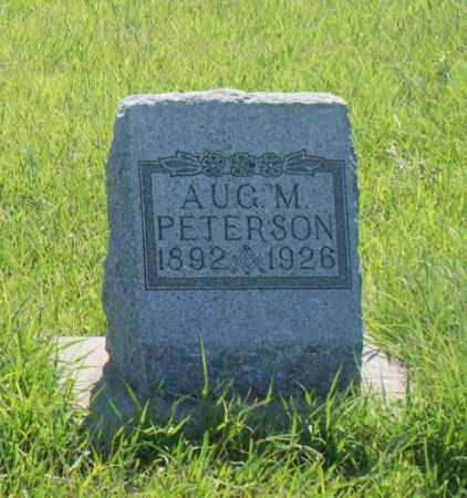PETERSON, AUGUST M. - Greeley County, Nebraska | AUGUST M. PETERSON - Nebraska Gravestone Photos