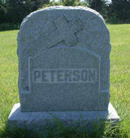 PETERSON, FAMILY - Greeley County, Nebraska   FAMILY PETERSON - Nebraska Gravestone Photos