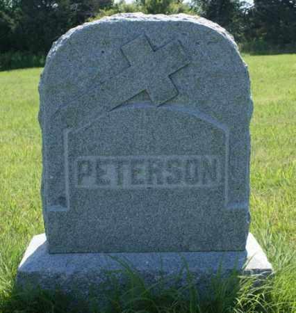 PETERSON, FAMILY - Greeley County, Nebraska | FAMILY PETERSON - Nebraska Gravestone Photos