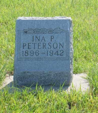 PETERSON, INA P. - Greeley County, Nebraska   INA P. PETERSON - Nebraska Gravestone Photos