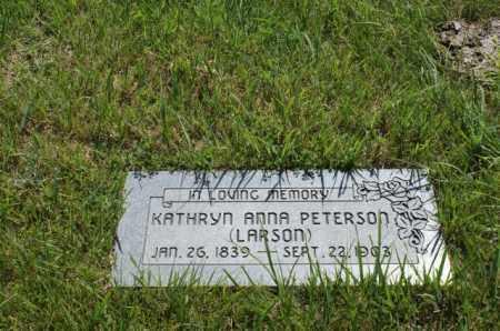 PETERSON, KATHRYN ANNA - Greeley County, Nebraska | KATHRYN ANNA PETERSON - Nebraska Gravestone Photos
