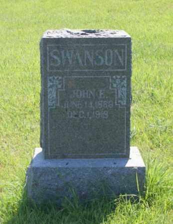 SWANSON, JOHN F. - Greeley County, Nebraska | JOHN F. SWANSON - Nebraska Gravestone Photos