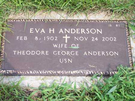 ANDERSON, EVA H. - Hall County, Nebraska | EVA H. ANDERSON - Nebraska Gravestone Photos