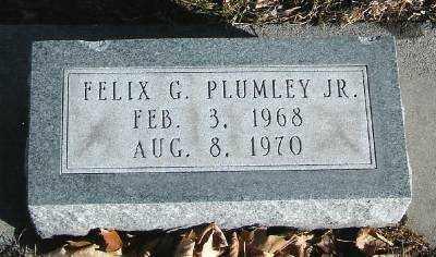 PLUMLEY, FELIX G. JR. - Hall County, Nebraska   FELIX G. JR. PLUMLEY - Nebraska Gravestone Photos