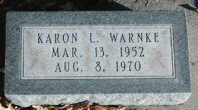 WARNKE, KARON L. - Hall County, Nebraska | KARON L. WARNKE - Nebraska Gravestone Photos