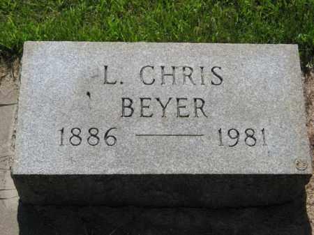 BEYER, L. CHRIS - Hamilton County, Nebraska | L. CHRIS BEYER - Nebraska Gravestone Photos