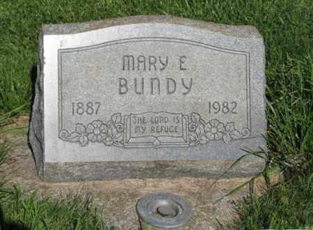 BUNDY, MARY E. - Hamilton County, Nebraska | MARY E. BUNDY - Nebraska Gravestone Photos