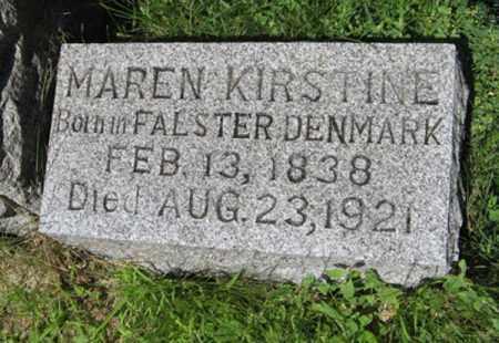 ERIKSEN, MAREN KIRSTINE - Hamilton County, Nebraska | MAREN KIRSTINE ERIKSEN - Nebraska Gravestone Photos