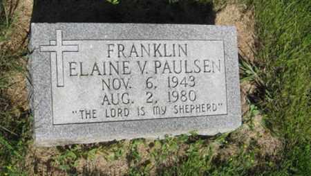 PAULSEN FRANKLIN, ELAINE V. - Hamilton County, Nebraska | ELAINE V. PAULSEN FRANKLIN - Nebraska Gravestone Photos