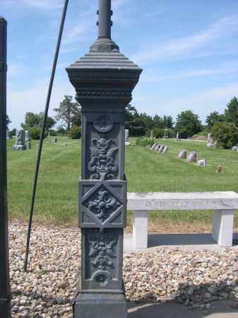 *HAMPTON CEMETERY, POST FOR ENTRANCE SIGN - Hamilton County, Nebraska | POST FOR ENTRANCE SIGN *HAMPTON CEMETERY - Nebraska Gravestone Photos