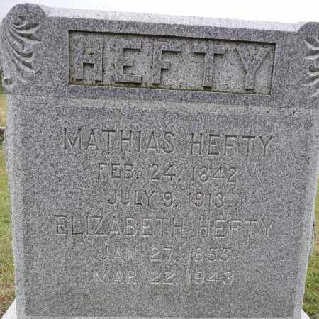 HEFTY, MATHIAS - Hamilton County, Nebraska | MATHIAS HEFTY - Nebraska Gravestone Photos