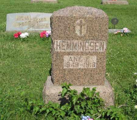 HEMMINGSEN, ANE E. - Hamilton County, Nebraska | ANE E. HEMMINGSEN - Nebraska Gravestone Photos