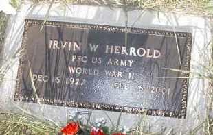 HERROLD, IRVIN W. - Hamilton County, Nebraska | IRVIN W. HERROLD - Nebraska Gravestone Photos