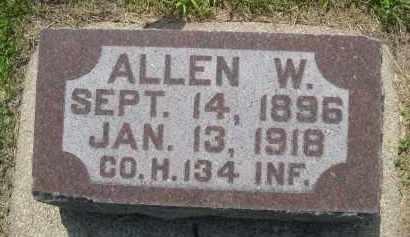 HUTSELL, ALLEN W. - Hamilton County, Nebraska   ALLEN W. HUTSELL - Nebraska Gravestone Photos