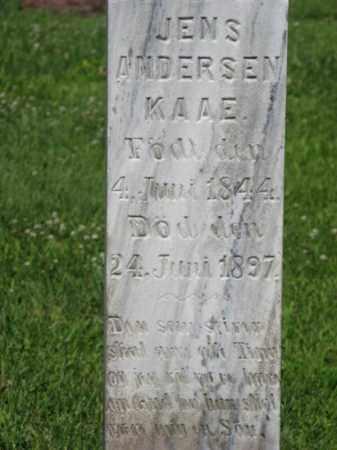 KAAE, JENS ANDERSEN (CLOSEUP) - Hamilton County, Nebraska   JENS ANDERSEN (CLOSEUP) KAAE - Nebraska Gravestone Photos