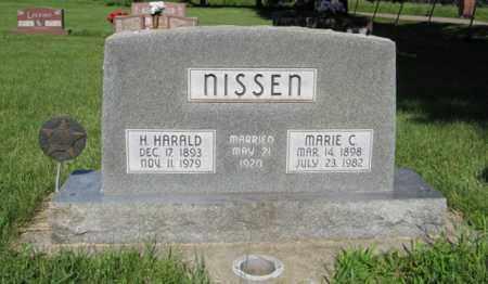 NISSEN, MARIE C. - Hamilton County, Nebraska   MARIE C. NISSEN - Nebraska Gravestone Photos