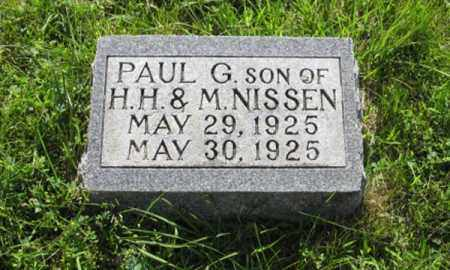 NISSEN, PAUL G. - Hamilton County, Nebraska | PAUL G. NISSEN - Nebraska Gravestone Photos