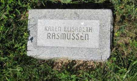 RASMUSSEN, KAREN ELISABETH - Hamilton County, Nebraska | KAREN ELISABETH RASMUSSEN - Nebraska Gravestone Photos
