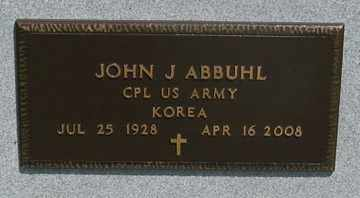 ABBUHL, JOHN J. - Hitchcock County, Nebraska | JOHN J. ABBUHL - Nebraska Gravestone Photos