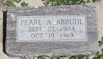 ABBUHL, PEARL A. - Hitchcock County, Nebraska | PEARL A. ABBUHL - Nebraska Gravestone Photos