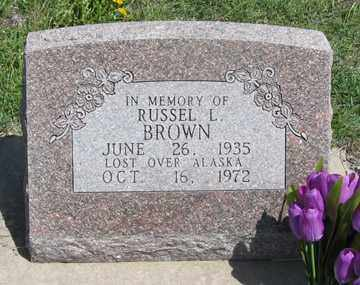BROWN, RUSSEL L. - Hitchcock County, Nebraska | RUSSEL L. BROWN - Nebraska Gravestone Photos