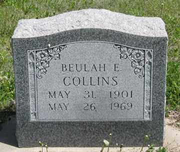 COLLINS, BEULAH E. - Hitchcock County, Nebraska | BEULAH E. COLLINS - Nebraska Gravestone Photos