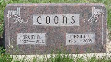 COONS, MAXINE L. - Hitchcock County, Nebraska | MAXINE L. COONS - Nebraska Gravestone Photos