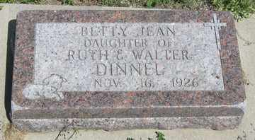 DINNEL, BETTY JEAN - Hitchcock County, Nebraska | BETTY JEAN DINNEL - Nebraska Gravestone Photos