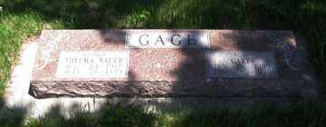 GAGE, THELMA - Hitchcock County, Nebraska | THELMA GAGE - Nebraska Gravestone Photos