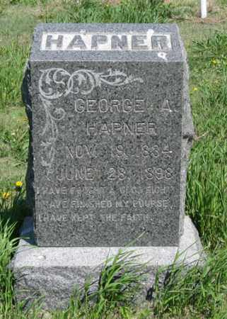 HAPNER, GEORGE A. - Hitchcock County, Nebraska | GEORGE A. HAPNER - Nebraska Gravestone Photos