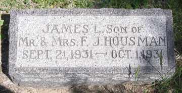 HOUSMAN, JAMES L. - Hitchcock County, Nebraska | JAMES L. HOUSMAN - Nebraska Gravestone Photos