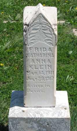 KLEIN, FRIDA KATHARINA ANNA - Hitchcock County, Nebraska | FRIDA KATHARINA ANNA KLEIN - Nebraska Gravestone Photos