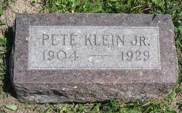 KLEIN, PETE JR. - Hitchcock County, Nebraska | PETE JR. KLEIN - Nebraska Gravestone Photos
