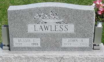 LAWLESS, BESSIE I. - Hitchcock County, Nebraska | BESSIE I. LAWLESS - Nebraska Gravestone Photos