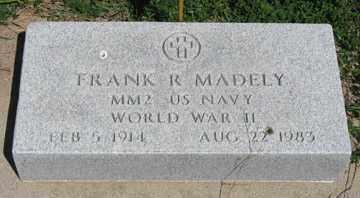 MADELY, FRANK R. - Hitchcock County, Nebraska | FRANK R. MADELY - Nebraska Gravestone Photos